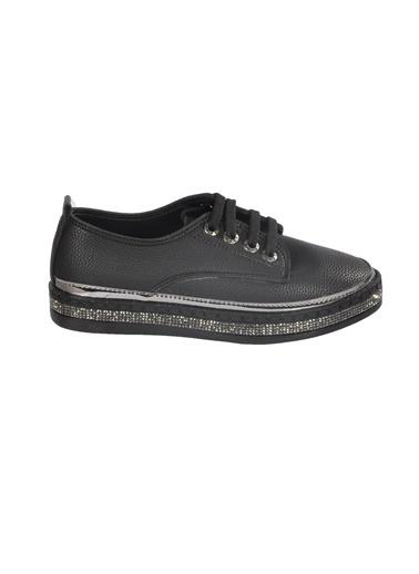 Mhd 2513 Z.Ayk Platin  Kadın Günlük Ayakkabı Siyah